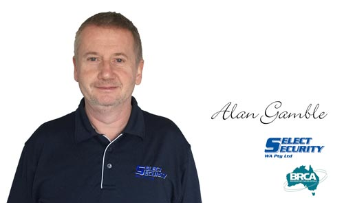 Alan Gamble of Select Security - Alarm Systems Perth Specialist