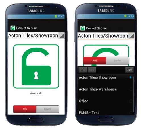 Pocket Secure Smartphone App Permaconn Alarm Monitoring System