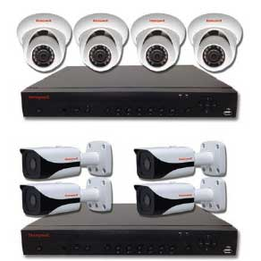 Honeywell Performance Series with 4 IP Cameras