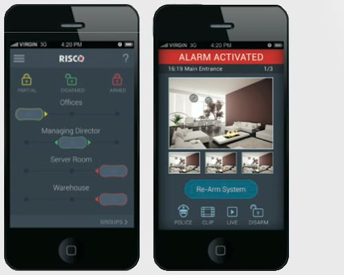 Risco Agility 3 Perth Home Security Smartphone App